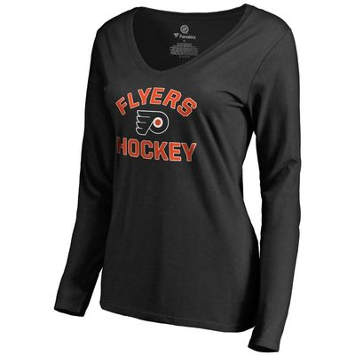 Philadelphia Flyers Women's Overtime Long Sleeve T-Shirt - Black