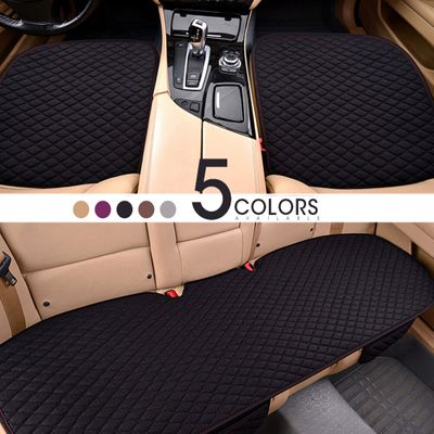 Universal Size Flax Car Seat Cushion Linen Fabric Protector Cover Fit for most Autos Interior Accessories Four Seasons Mat