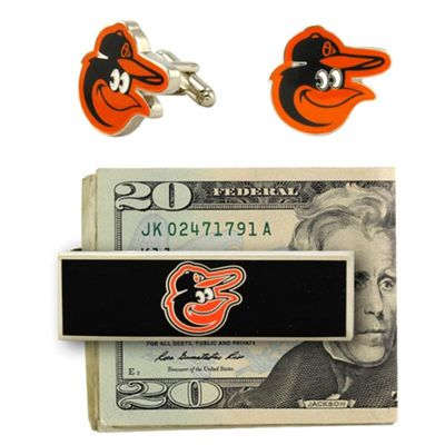 Baltimore Orioles Cuff Links and Money Clip