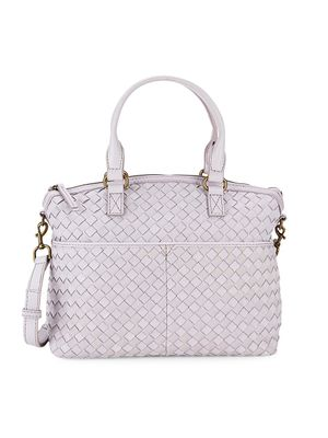 American Leather Co. Carrie Woven Leather Satchel