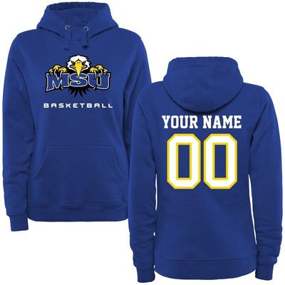 Morehead State Eagles Women's Personalized Basketball Pullover Hoodie - Royal