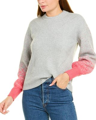 Design History Balloon -Sleeve Sweater