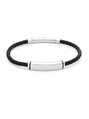 Saks Fifth Avenue Stainless Steel and Leather Bracelet