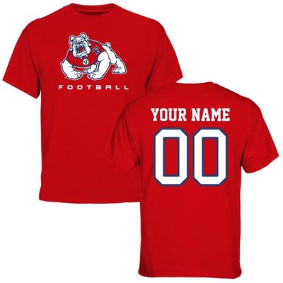 Fresno State Bulldogs Personalized Football T-Shirt - Red