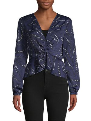 BCBGeneration Long-Sleeve Twist-Front Top