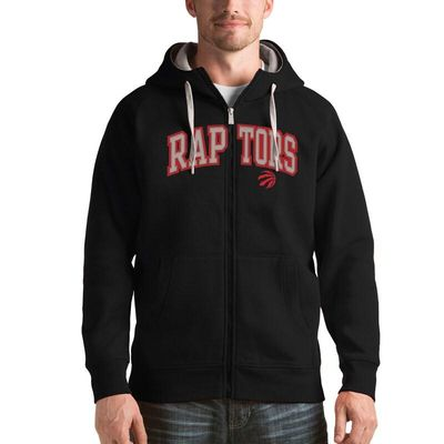 Toronto Raptors Antigua Victory Full Zip Hoodie - Black