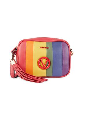 Valentino by Mario Valentino Mia Rainbow Leather Camera Bag