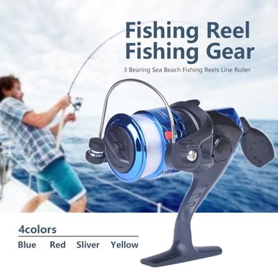 Electroplate Spinning Fishing Reel Spin Fishing Coil Wheel for Sea Fishing 3 Ball Bearing 2 Control Systems Fishing Reels #18