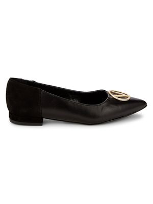 Valentino by Mario Valentino Rosa Leather & Suede Ballet Flats