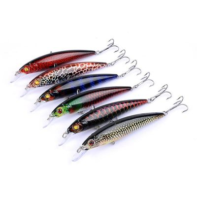 1Pcs Top Quality Fishing Lure Realistic Minnow Fishing Crankbait Lures 11cm/13.4g Artificial Hard Bait Swimbait With Hooks