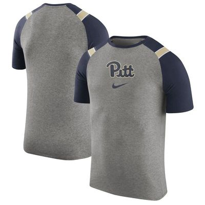 Pitt Panthers Nike Enzyme Washed Shoulder Stripe T-Shirt - Charcoal
