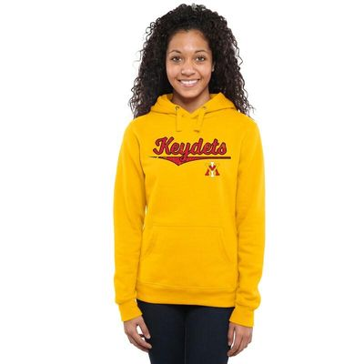Virginia Military Institute Keydets Women's American Classic Pullover Hoodie - Yellow