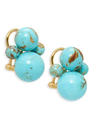 Ippolita Nova 18K Yellow Gold & Turquoise Bead Earrings