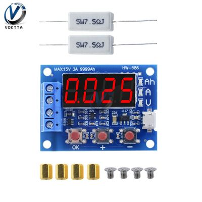 18650 Lithium Battery Power Supply Test ZB2L3 Battery Tester LED Digital Display Resistance Lead-acid Capacity Discharge Meter