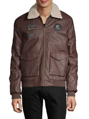 BUFFALO David Bitton Faux Fur-Trim Full-Zip Jacket