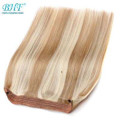 BHF Straight Machine Made Remy European Flip Human Hair No Clips 18