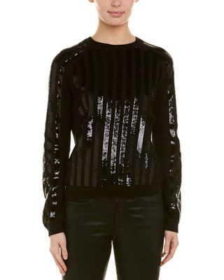 Eleven Paris Sequined Angora-Blend Top