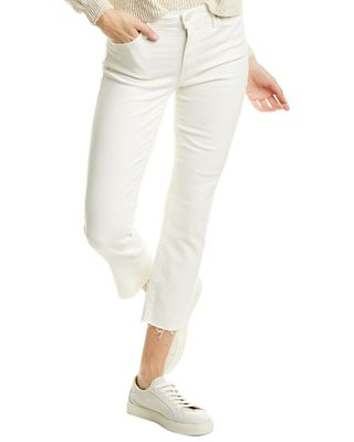 MOTHER The Rascal Cream Puffs Straight Cut Cropped Jean