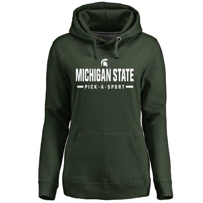Michigan State Spartans Women's Custom Sport Pullover Hoodie - Green