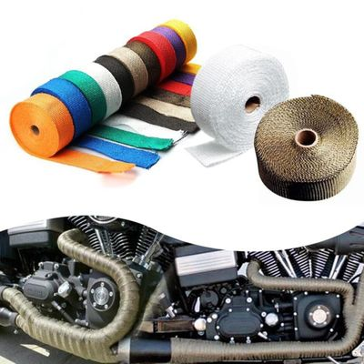 Car And Motorcycle Exhaust Pipe InsulationTape Reducing Hood Heat Non-combustible Turbocharger Exhaust Bag Protect Engine Parts