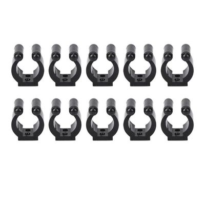 10pcs ABS Fishing Rod Storage Clips Portable Club Pole Rack Clamps Holder Fishing rod holders