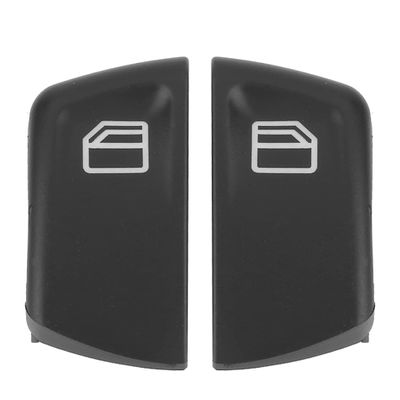 2pcs ABS anti-rust Car  Window Console Control Power Switch Push Button Fit for Mercedes Vito Viano W639 Sprinter II 906 black