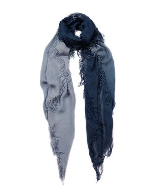 Blue Pacific Ombre Tissue Cashmere-Blend Scarf