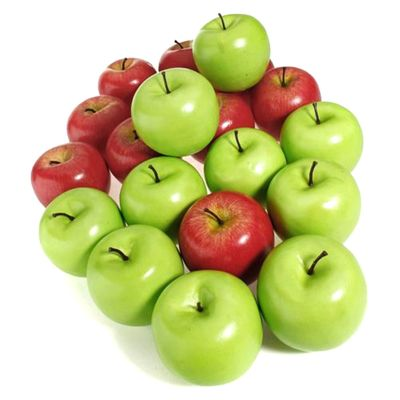 10pcs/set Artificial Apples Plastic Fruit Green Red Apple For Wedding Decoration Shop Display Fake Fruits Teaching Aids Fruits