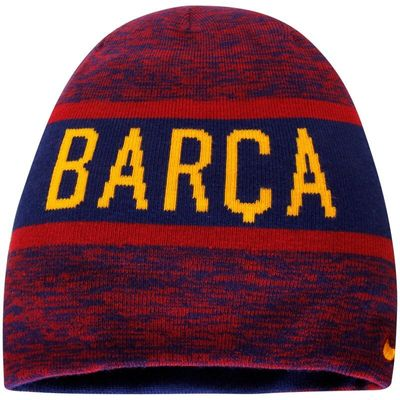 Barcelona Nike 2016/17 Training Reversible Knit Beanie - Red