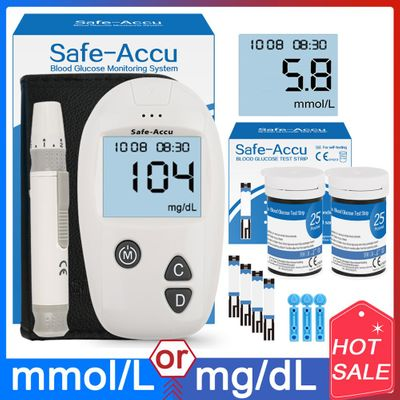 Accu blood glucose meter 50/100pcs Test Strips Lancets Glucometer kit for Diabetic Blood Sugar monitor Medical Diabetes Tester