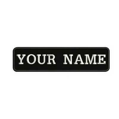 10X2.5cm Embroidery Custom Name Text Patch Stripes badge Iron On Or Velcro Backing Patches For Clothes Backpack Hat BR-02A