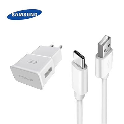 Samsung Galaxy A51 US Plug Adapter Fast Charger Quick Fast Charge 1.5M Type C Cable for Galaxy S10 S8 S9 Plus A51 A50 A70 Note10
