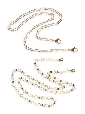 Eye Candy LA Luxe Ally 3-Piece 14K Goldplated Face Mask Chain Set