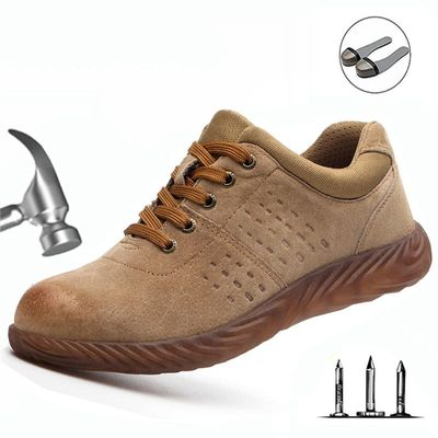 Labor Insurance Shoes2019 Men Steel Head Anti-smash Stab-resistant Anti-slip Electric Welder Beef Tendon Jelly Bottom Work Shoes