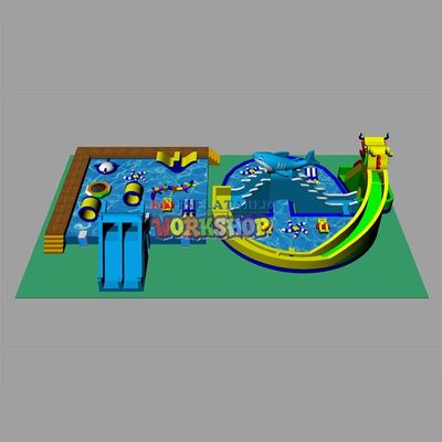 Customization of Large Land Water Paradise Portable mobile water slide pool package for sale