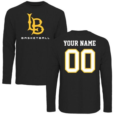 Long Beach State 49ers Personalized Basketball Long Sleeve T-Shirt - Black