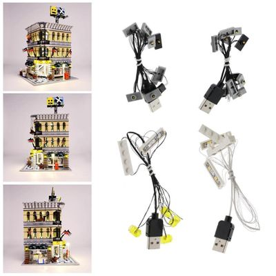 New LED Light Kit for 10211 Grand Emporium USB Powered Bricklite Applicable Street View Series 10211 Department Store Building