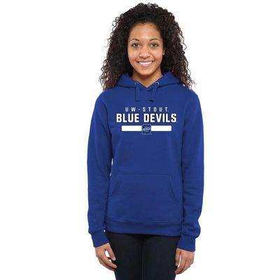 Wisconsin Stout Blue Devils Team Strong Pullover Hoodie - Royal Blue