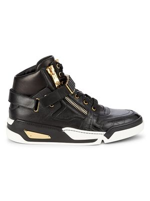 Versace Medusa Leather High-Top Sneakers