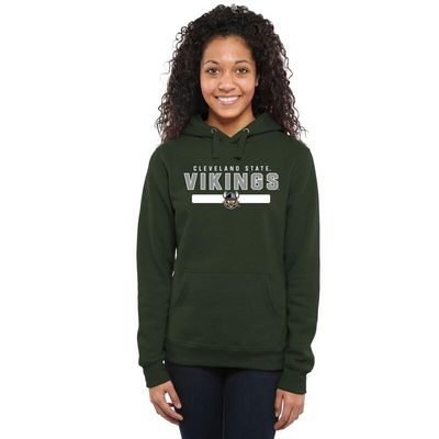 Cleveland State Vikings Womens Team Strong Pullover Hoodie - Green