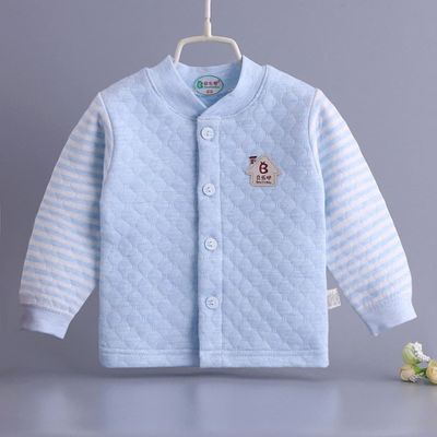 Autumn Winter Baby boy girl thick clothes 0-2Y baby 100% Cotton Long sleeve Sweatshirt warm sport clothes for baby girl boy