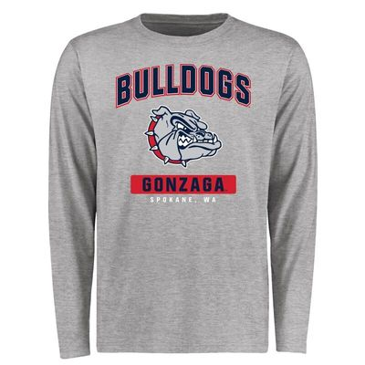 Gonzaga Bulldogs Big & Tall Campus Icon Long Sleeve T-Shirt - Ash