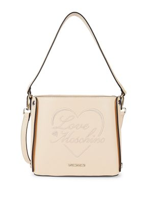 Love Moschino Drawstring Faux Leather Bucket Bag