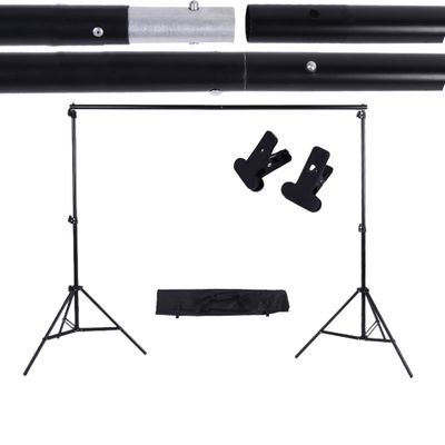 IN CZ STOCK 2*3m/6.6*9.8ft Photo Background Support Stand Adjustable Backdrop Photograpy Backgrounds for Photo Studio Backdrop