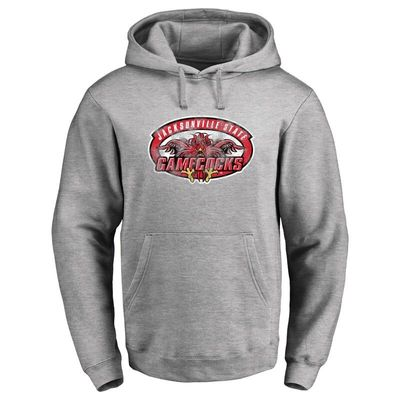Jacksonville State Gamecocks Classic Primary Logo Pullover Hoodie - Ash