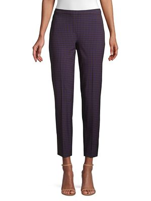 Elie Tahari Marcia Check Tapered Pants