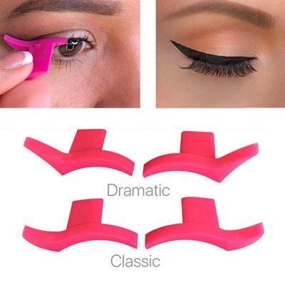 Cat Eyeliner Template Stencil Models Professional Makeup New Wing Style Kitten Large Size Cat Eye Wing Eyeliner Stamps TSLM2
