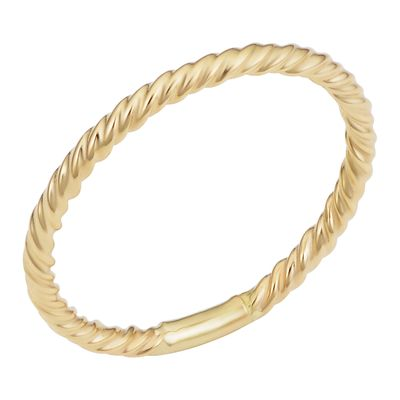 14k Yellow Gold High Polish Twisted Style Ring