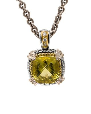 Andrea Candela Alhambra 18K & Silver 6.36 ct. tw. Diamond & Lemon Quartz