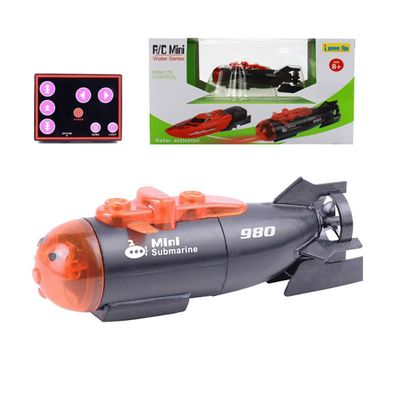Mini Remote Submarines Remote Control LED Colorful Boat Water Toy Diving Toy